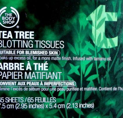 Tea Tree Blotting Tissues