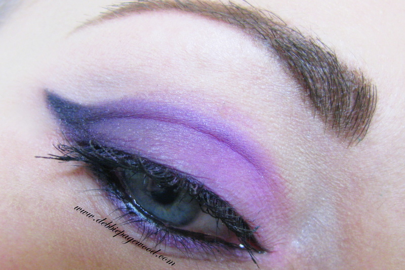 Purple winged eyeshadow tutorial