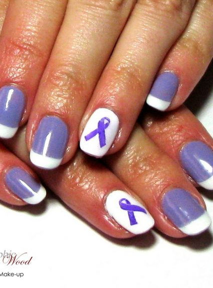 November Awareness Nail Art Tutorial
